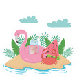 summer and vacation icon set design vector image vector image