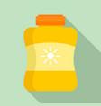 sun protection cream jar icon flat style vector image vector image
