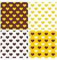 Tile background set with hearts vector image vector image