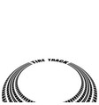 tire track circle perspective vector image vector image
