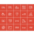 Travel and holiday sketch icon set vector image vector image