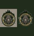 vintage wildlife colorful round badge vector image vector image