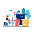 waste sorting - flat design style colorful vector image