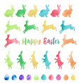watercolor easter design elements vector image