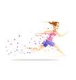 woman runner metafan concept vector image vector image