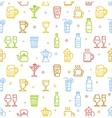 Drink Background for Bar Restaurant vector image