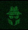 spy icon with binary code vector image