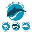 sea aquarium emblem set vector image