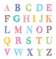 abc marker set vector image vector image