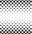 Abstract black and white heart pattern background vector image vector image