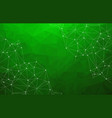 abstract low poly green technology background vector image