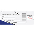 Airplane ticket vector image vector image
