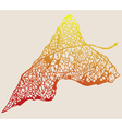 autumn leaf tracery vector image vector image