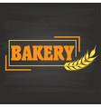 bakery square frame malt background image vector image vector image