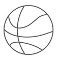 basketball ball thin line icon game and sport vector image