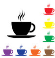 black coffee cup icon vector image vector image