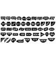 black new speech bubbles sale labels set vector image