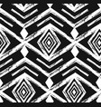 black tribal navajo seamless pattern with vector image