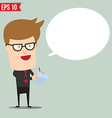 Business man writing a note - - EPS10 vector image