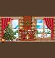 christmas greeting card background vector image