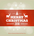 christmas greeting card with light and orange vector image vector image