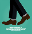 close-up of business man with leather shoes vector image vector image