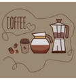 coffee line icon art cup bean jug jar grinder vector image