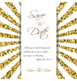 Cute cards with gold Confetti glitter Perfect for vector image vector image