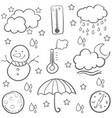 doodle of weather design art vector image vector image