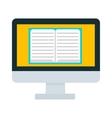 E-books computer concept vector image vector image