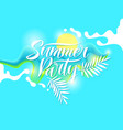 fashion poster summer party in abstract style vector image vector image
