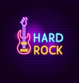 hard rock neon sign vector image