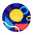 hello summer bright social media poster template vector image vector image