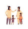 indian family thanksgiving day celebrating concept vector image