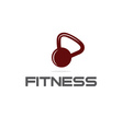 kettlebell fitness vector image vector image