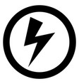 lightning bolt sign vector image vector image