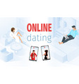 man sitting on bed woman on sofa vector image vector image