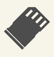 memory card solid icon sd card vector image