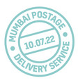 mumbai postage stamp vector image