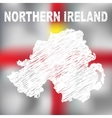 North Irish Abstract Map vector image