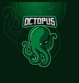 octopus mascot vector image