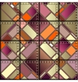 Patchwork in geometric style vector image