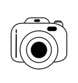 photographic camera device isolated icon vector image