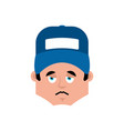 plumber sad emotion avatar fitter sorrowful emoji vector image vector image