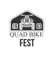Quad Bike Event Label Design Black And White vector image vector image