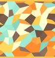 retro tetragon mosaic pattern seamless polygonal vector image vector image