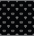 seamless pattern king and queen crown and diamond vector image