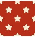 Seamless pattern with stars on red backgrond vector image