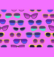 seamless pattern with stylish sunglasses vector image vector image