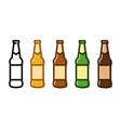set a beer bottle icon set vector image vector image